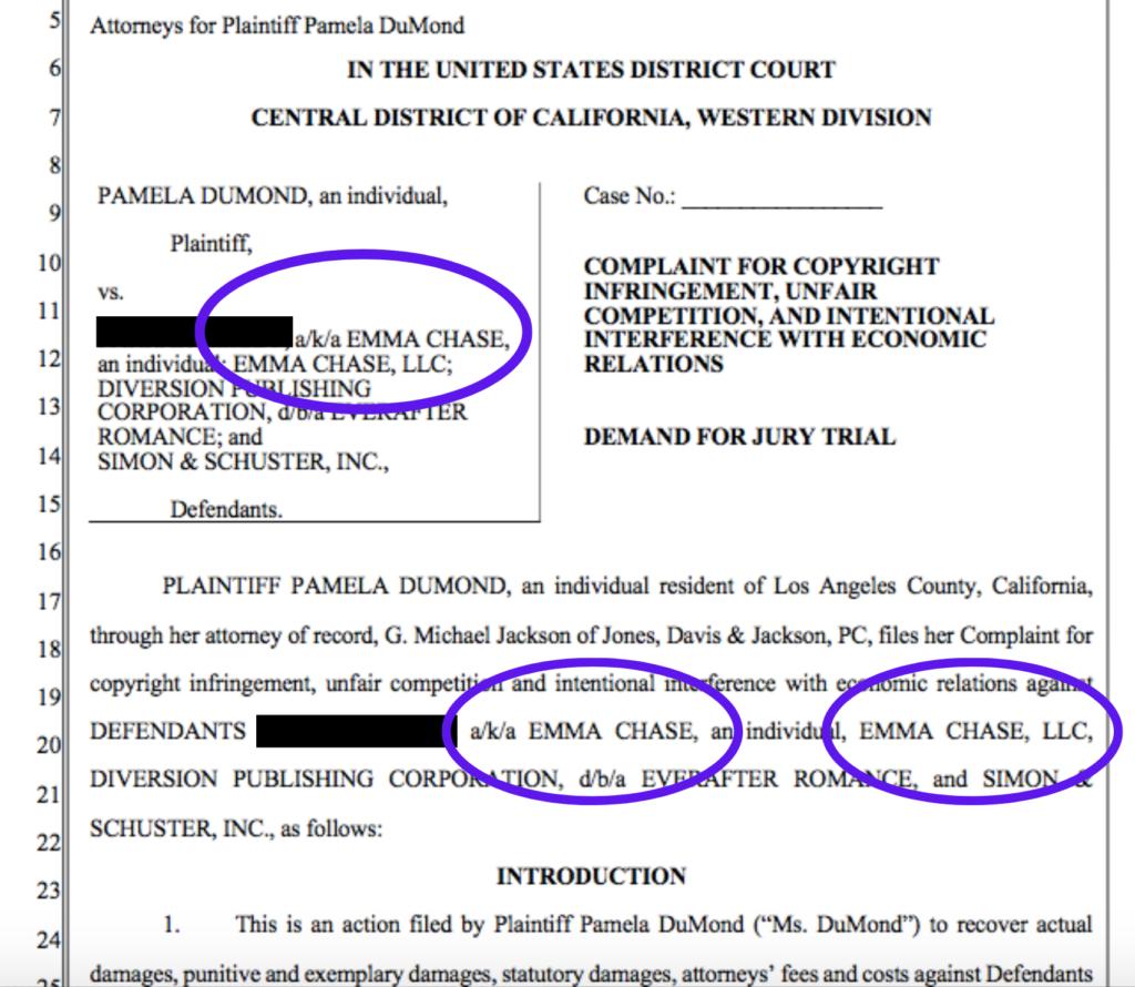 Copyright Infringement Lawsuit Emma Chase